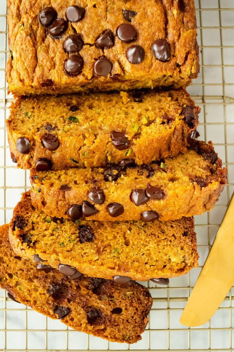 whole-wheat pumpkin zucchini bread