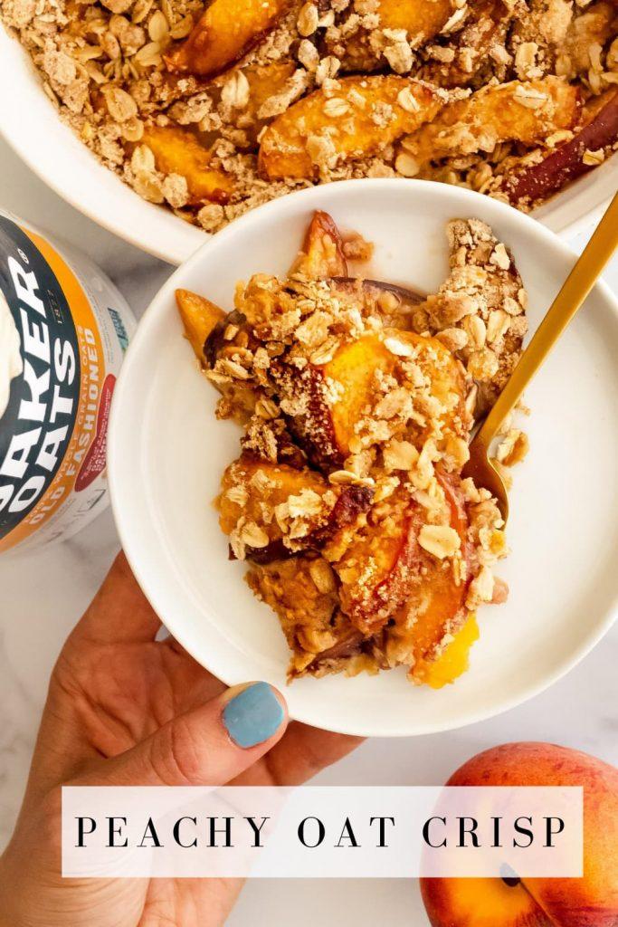 how to make a peach oat crisp