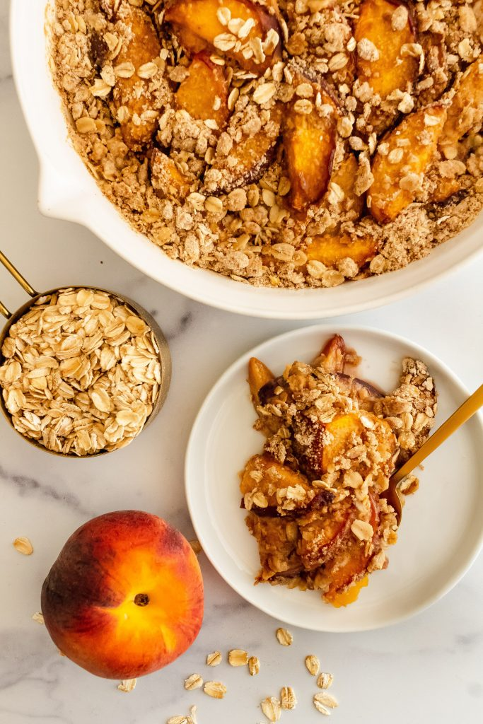 oat crisp with peaches