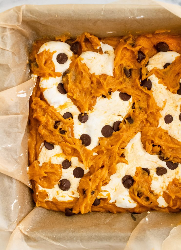 how to make pumpkin marshmallow bars