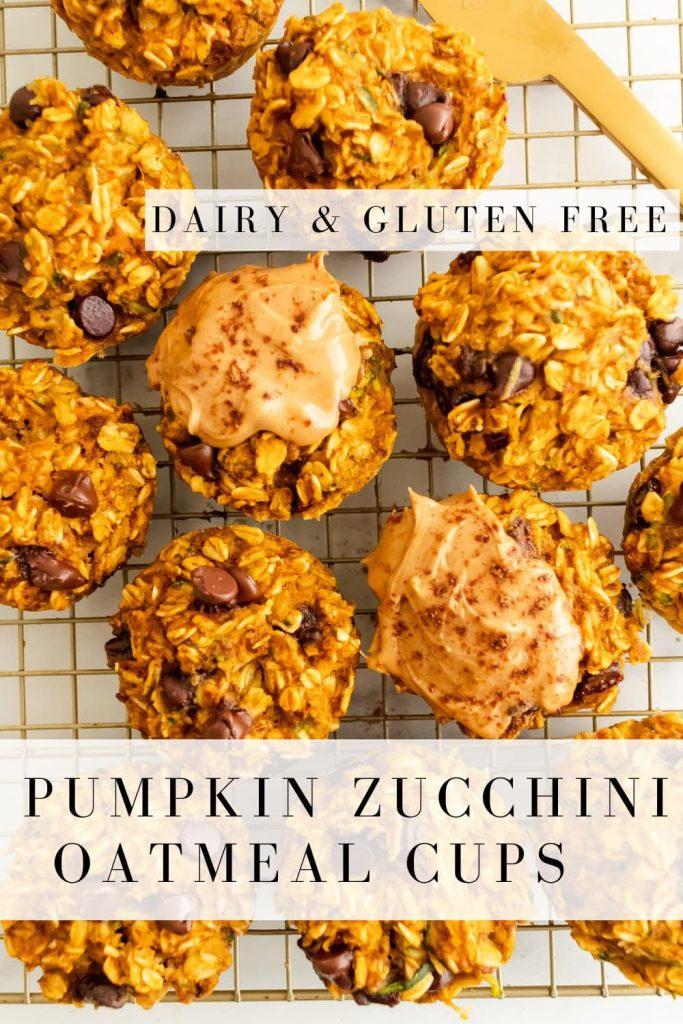 how to make pumpkin zucchini oatmeal cups