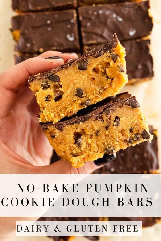 no-bake pumpkin bars