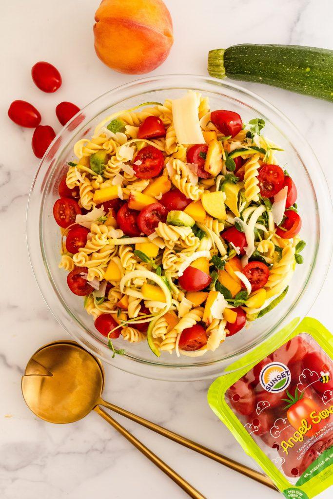 veggie packed pasta salad