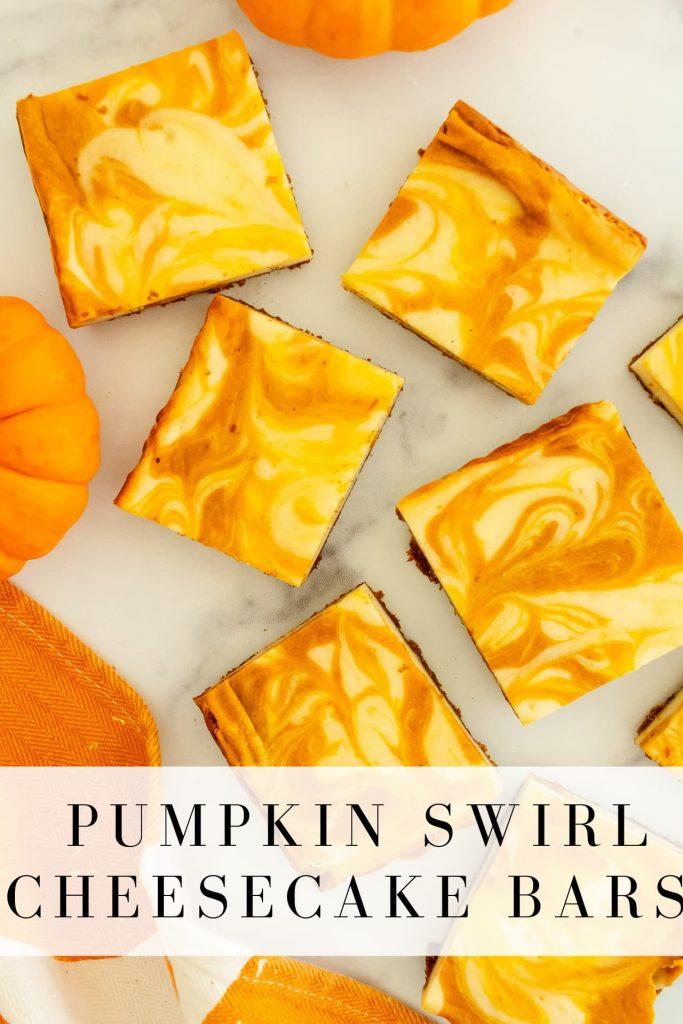 gluten free pumpkin swirl cheesecake bars