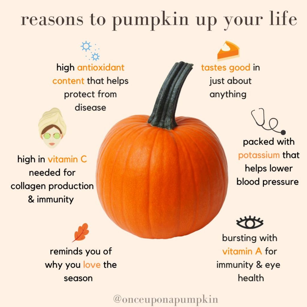 health benefits of pumpkin infographic