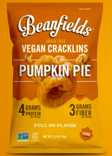 Beanfields pumpkin pie vegan cracklins