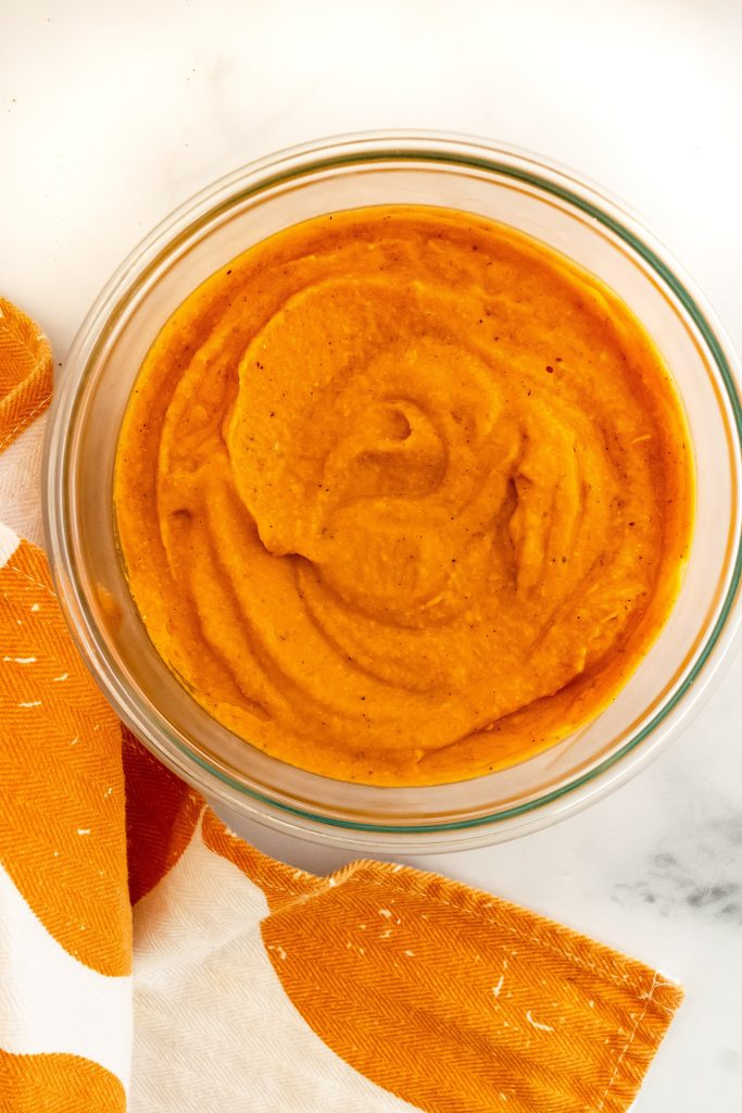 harvest pasta sauce with pumpkin puree, butternut squash, fresh sage and fall spices