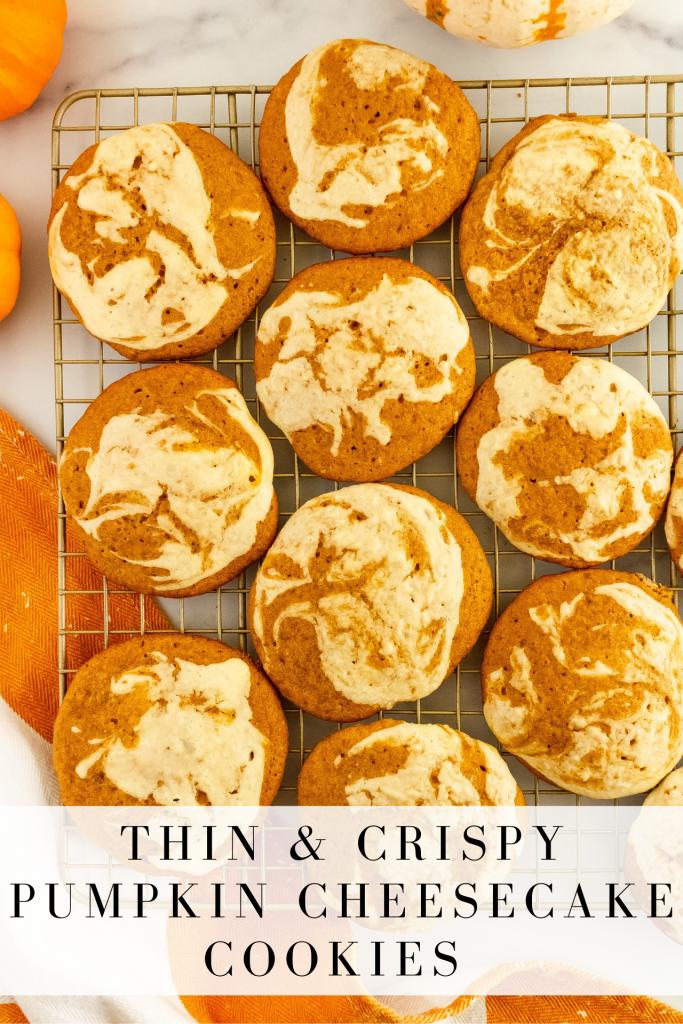pumpkin cookies with cheesecake swirl