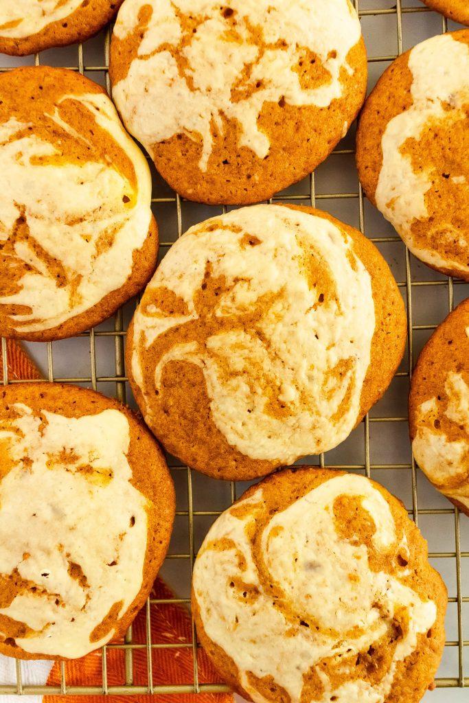 pumpkin cream cheese swirled cookies