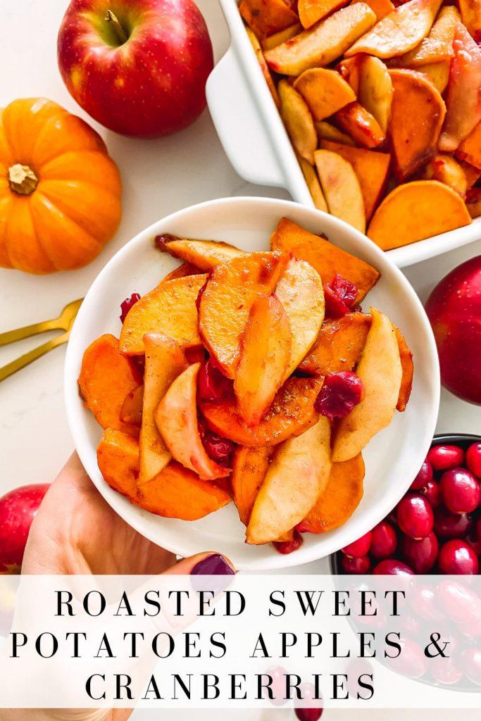 sweet potatoes, apples and fresh cranberries