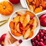 roasted sweet potatoes with apples and fresh cranberries