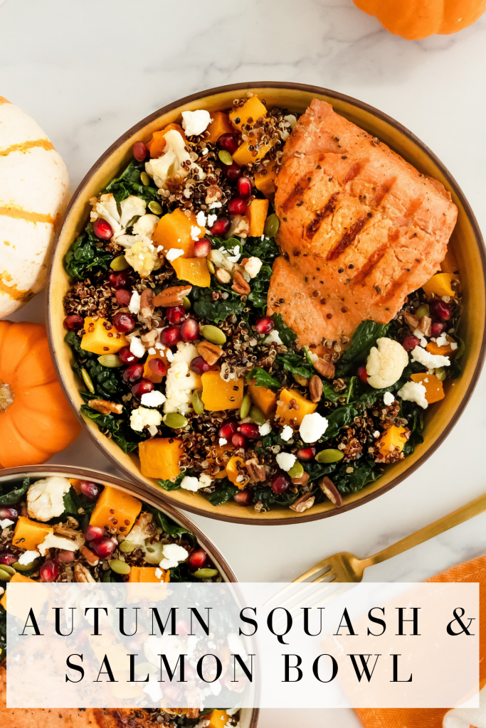 ultimate delicious and nutritious fall salad with honey mustard salmon