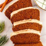 best healthy pumpkin gingerbread loaf