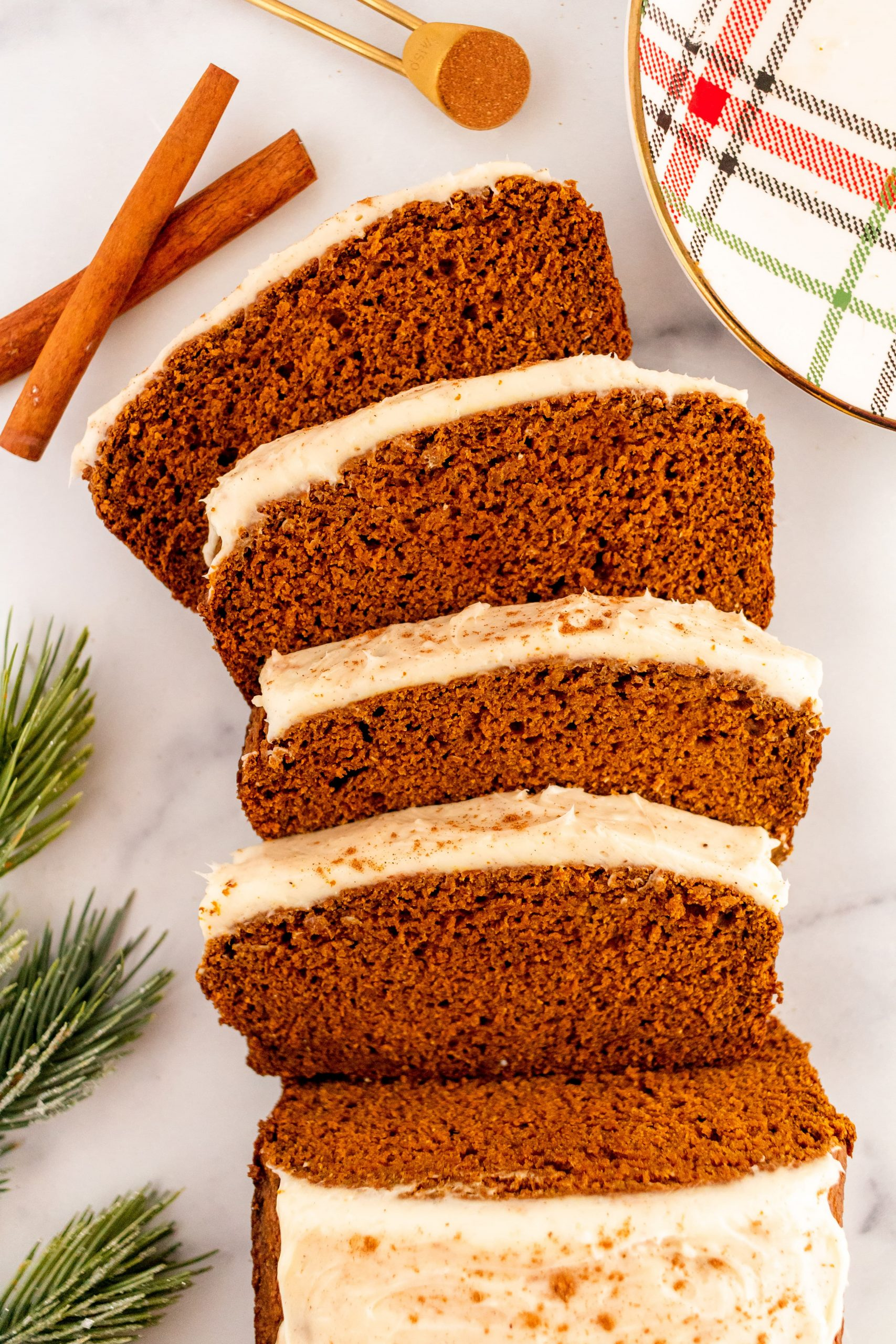 best healthy pumpkin gingerbread loaf