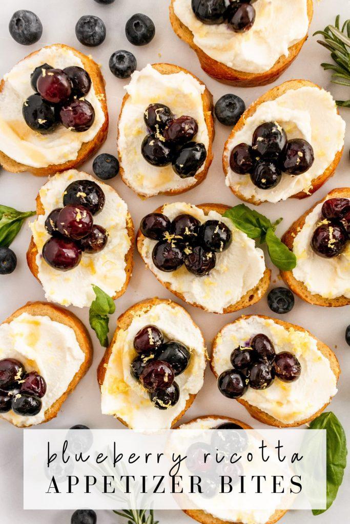 blueberry ricotta appetizer bites