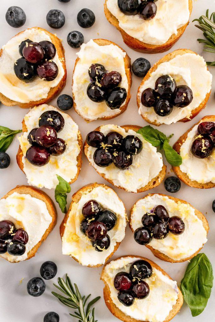 blueberry ricotta bruschetta