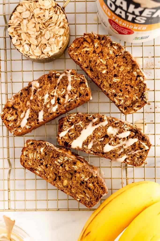healthy gingerbread banana loaf