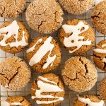 soft and spiced paleo gingerdoodle cookies made with almond and coconut flour and sweetened with molasses