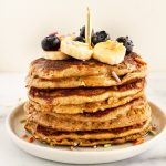 birthday cake oat pancakes