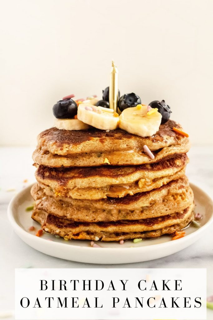 blender birthday cake pancakes
