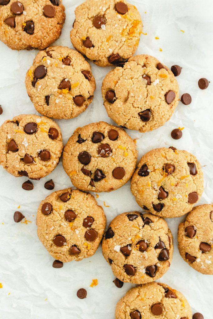 gluten and dairy free orange chocolate chip cookies