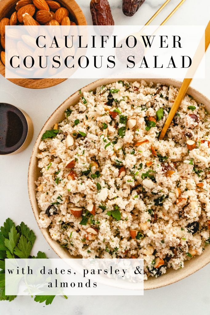 raw cauliflower couscous salad