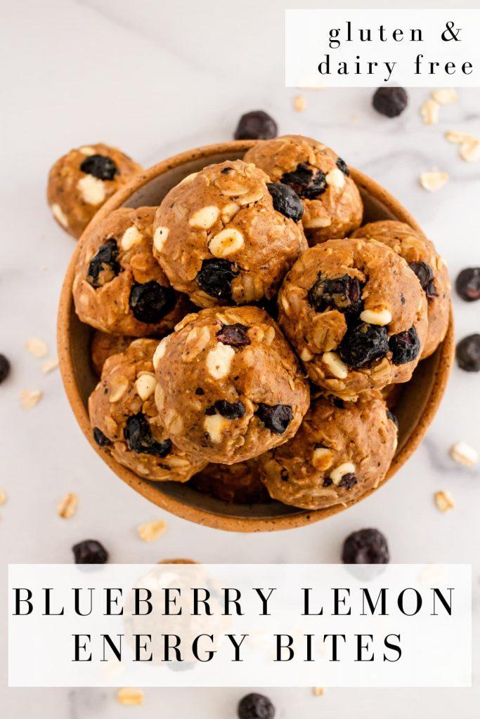 blueberry oat energy bites
