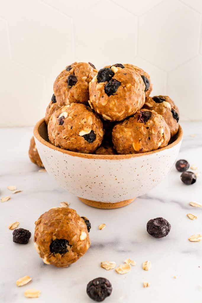 gluten and dairy free blueberry energy bites