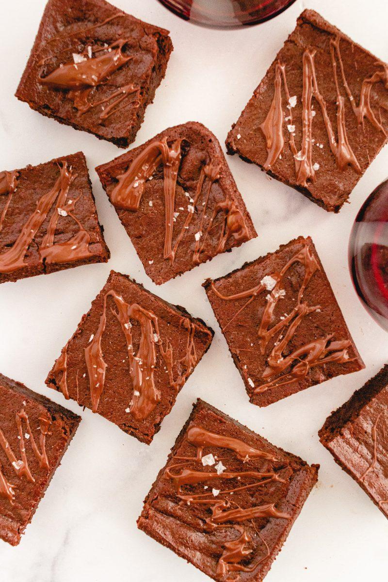 gluten free red wine brownies