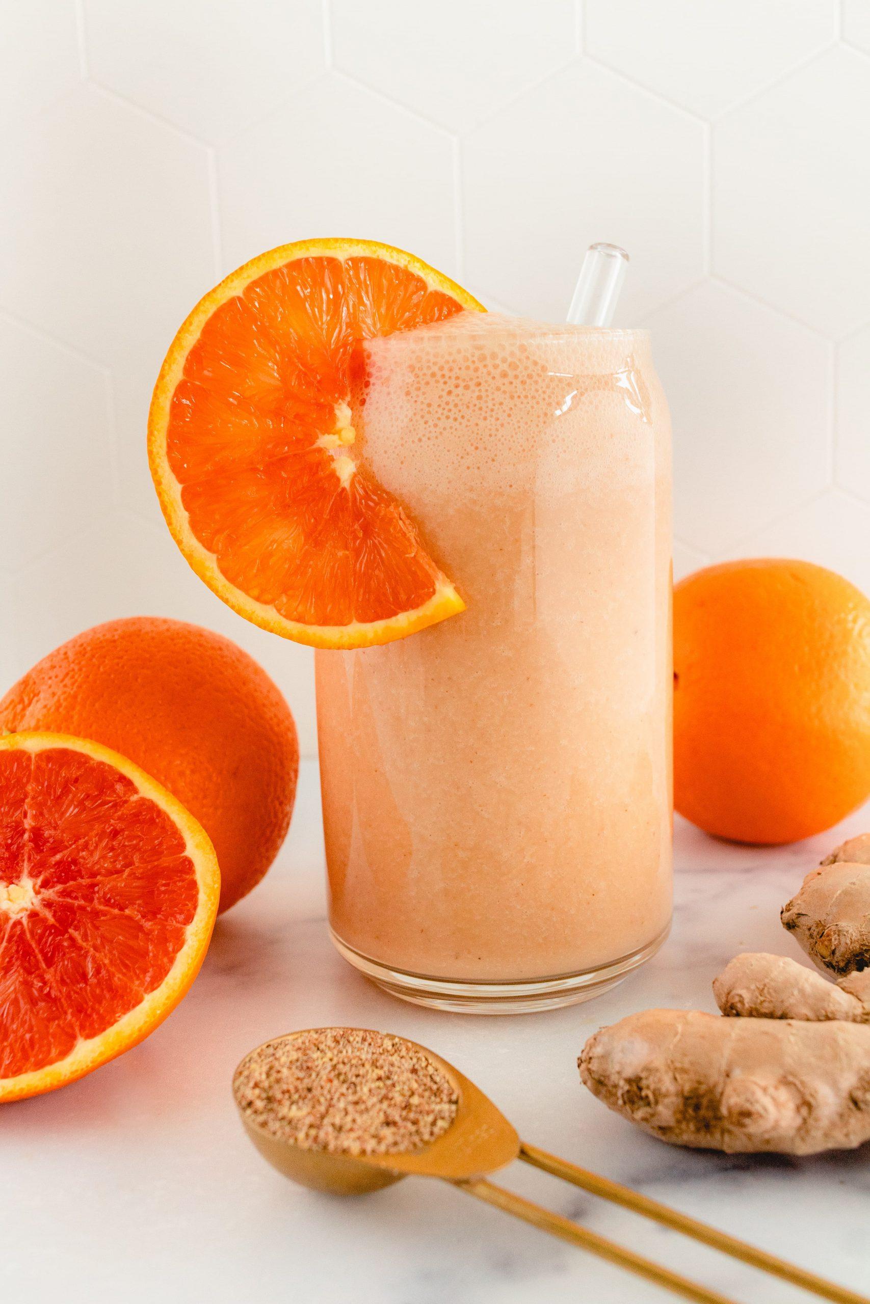dairy free cara cara orange ginger smoothie
