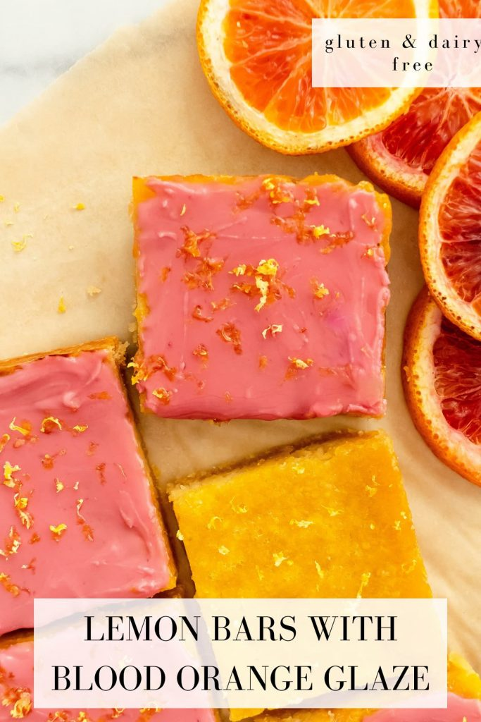 gluten free pink lemon bars