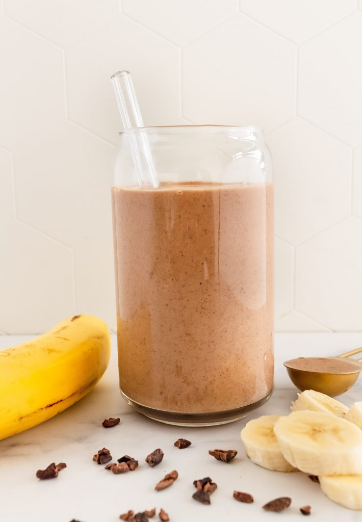 Wendy's copycat healthy chocolate frosty smoothie