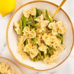 dairy free lemon asparagus pasta