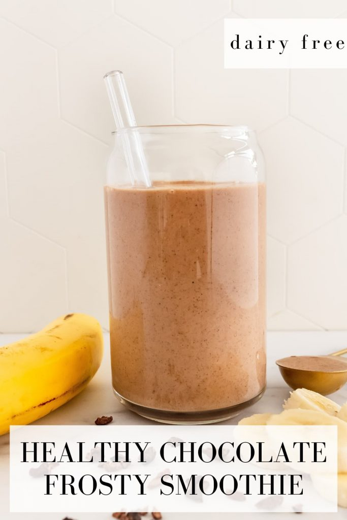 healthy chocolate frosty smoothie recipe