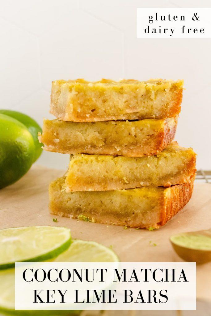 healthy coconut key lime bars