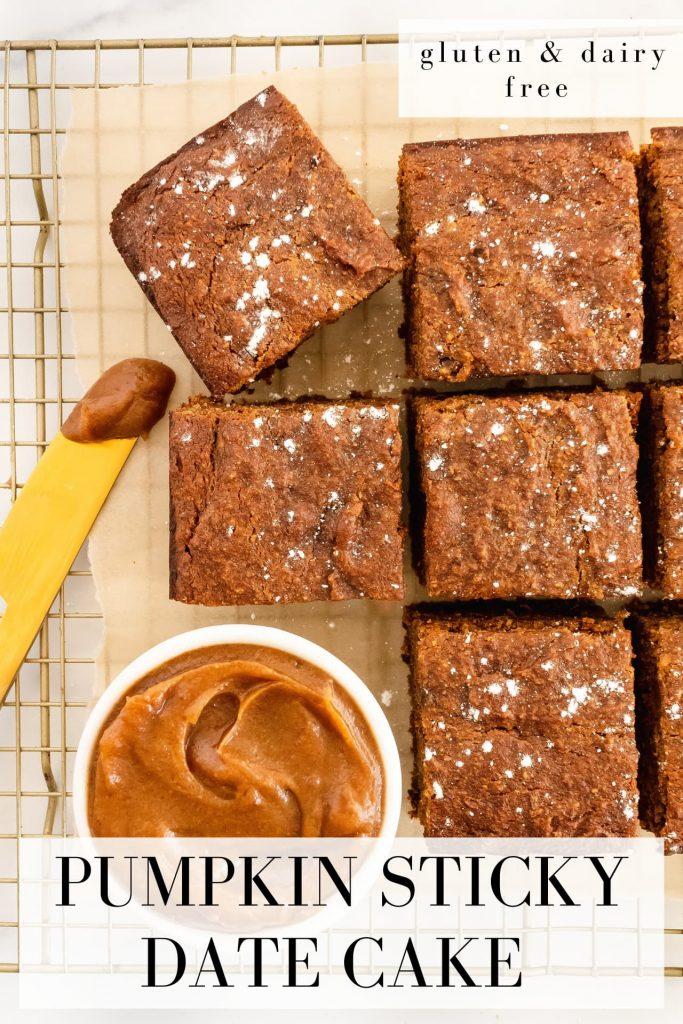 how to make pumpkin sticky date cake