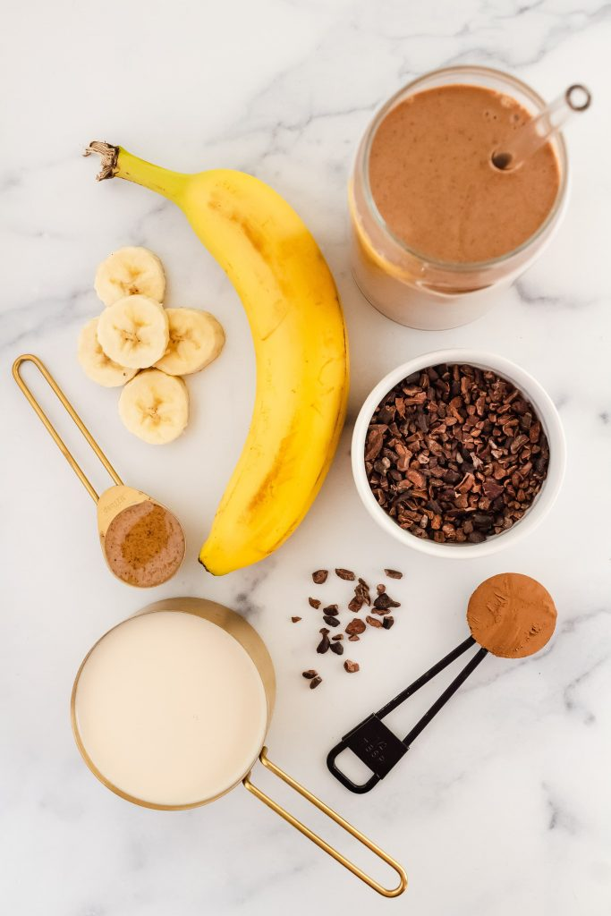 ingredients for wendys copycat healthy chocolate frosty smoothie