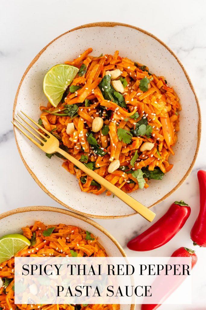 thai curry red pepper pasta sauce
