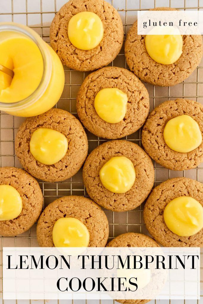 gluten free lemon thumbprint cookies