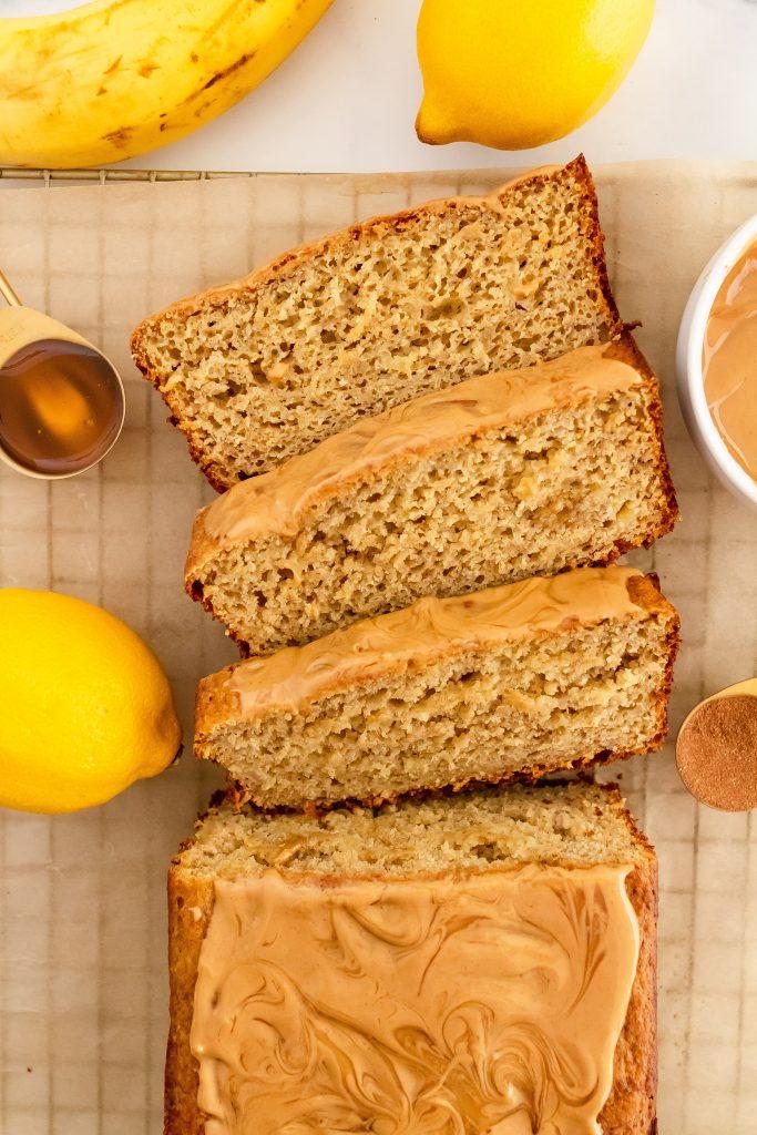 healthy lemon banana bread