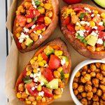 bbq-sweet-potatoes-with-chickpeas-corn-avocado-and-campari-tomatoes