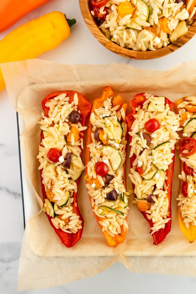 How to make stuffed peppers with orzo