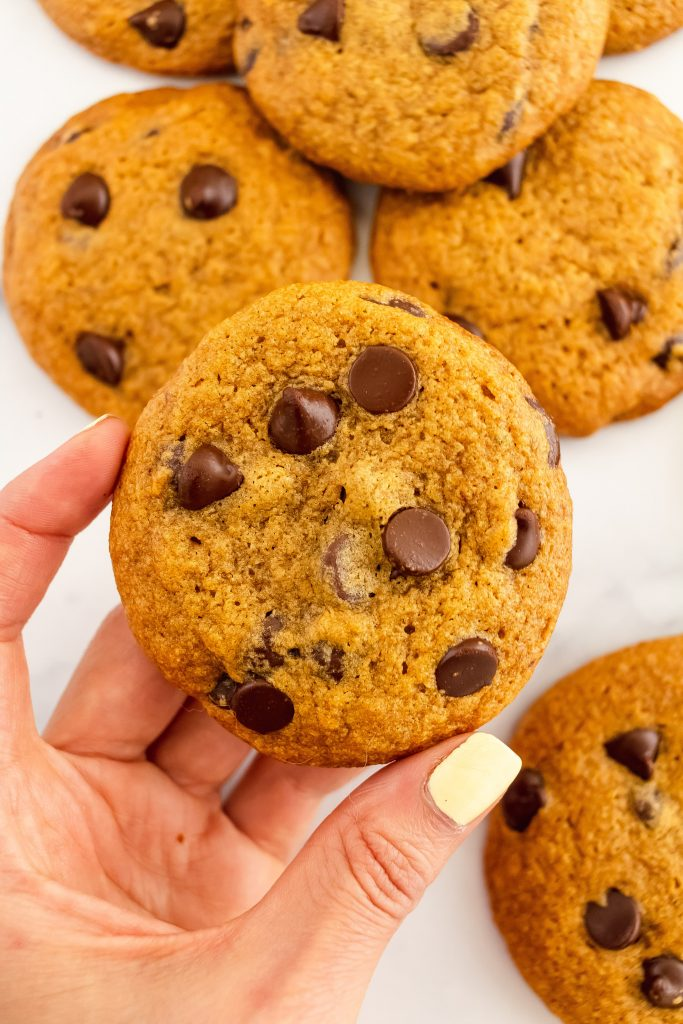 best thin and crispy pumpkin chocolate chip cookies made gluten and dairy free