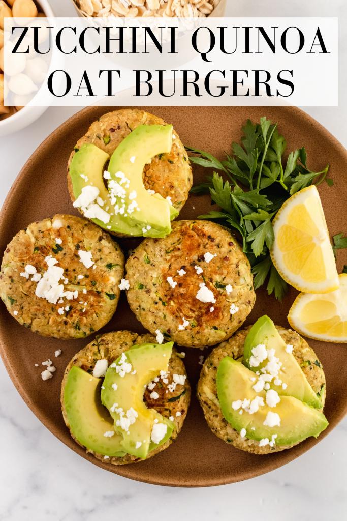 how to make zucchini quinoa oat burgers