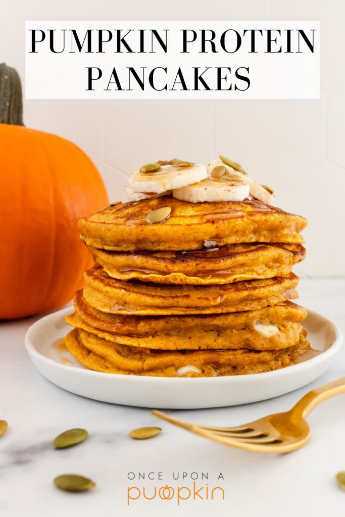 best healthy pumpkin protein pancakes made with pumpkin seed protein and white chocolate chips