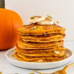 healthy-pumpkin-protein-pancakes-with-white-chocolate-chips
