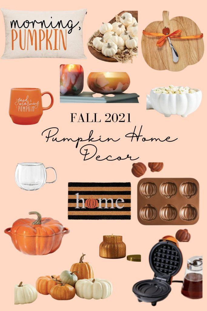 pumpkin home decor for fall 2021